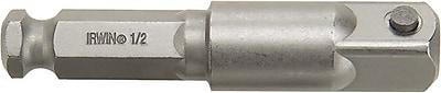 Irwin® Hex Shank Socket Adapter, 3 in (OAL), 1/2 in Square Drive