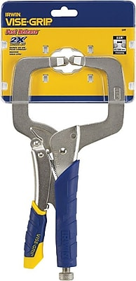 VISE-GRIP® Fast Release™ Alloy Steel Locking C-Clamp, 11 in (L)