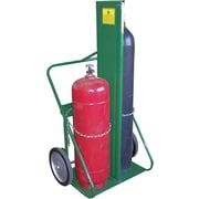 Saf-T-Cart™ Series 400 Cylinder Cart, 24 in Capacity, 62 in (H) x 35 in (W)