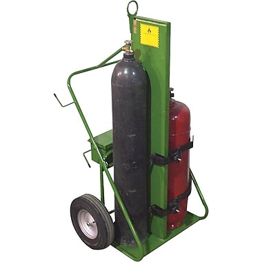 Saf-T-Cart™ Series 550 Fire Resistant Cylinder Cart, 24 in Capacity, 62 in (H) x 35 in (W)