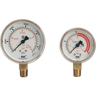Western Enterprises Regulator Gauge, 4000 psi, 2 1/2 in Dial, LM
