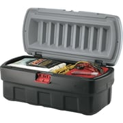 ActionPacker® Black Storage Box with Gray Lid, 24 gal, 26 1/2 in (L) x 19.3 in (W) x 17.4 in (H)