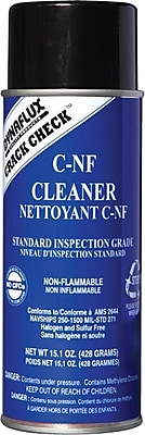 Dynaflux® Crack Check™ Non-Flammable Cleaner, 15.1 oz Aerosol Can, Standard Grade
