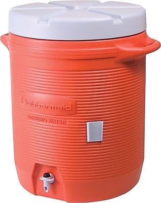 Rubbermaid Orange Water Cooler, 2 1/2 in x 19.19 in x 15.85 in, 1 gal 774891
