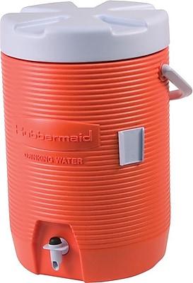 Rubbermaid® Orange Plastic Water Cooler, 16.65 in x 12.53 in x 11 in, 3 gal