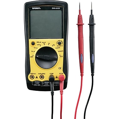 Sperry® Instruments Series 64 Auto Ranging Digital Multimeter, 9 Functions, 35 Ranges