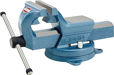 Ridgid® Forged Steel Base Machinist Bench Vise, 1/2 - 4 in Capacity, 6 in (W) Jaw