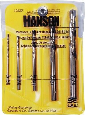 Irwin® Black Oxide Cobalt HSS 5 pcs 305 LH Mechanics Length Drill Bit Set, 5/64 - 1/4 in By 1/32