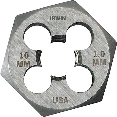 HANSON® High Carbon Steel Hexagon Metric Pipe Die, 10 mm-1.5