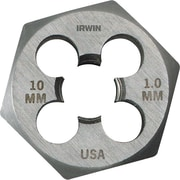 HANSON® High Carbon Steel Hexagon Metric Pipe Die, 10 mm-1.5