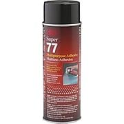 3M Super 77 Clear Spray Multi Purpose Adhesive; 24 fl oz Aerosol Can, 12/Carton