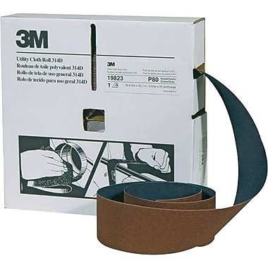 3M™ Maroon Cloth Backing 314D Series Utility Roll, 50 yd (L), 2 in (W), 180