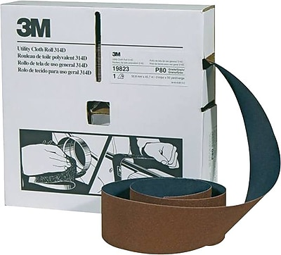 3M™ Maroon Cloth Backing 314D Series Utility Roll, 50 yd (L), 2 in (W), 320