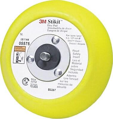 Stikit™ Yellow Regular Molded Disc Pad, 5 in (Dia), 10000 rpm