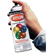 Krylon® Interior/Exterior Industrial Paint, Glossy Black, Aerosol, 12 oz.