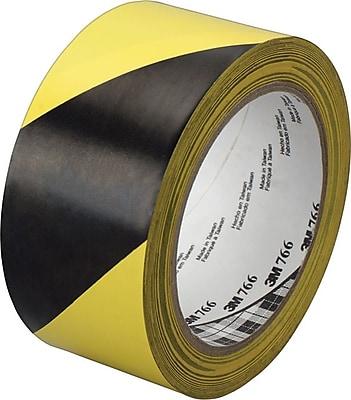 3M™ Black And Yellow Diagonal Stripe Hazard Marking Vinyl Tape, 36 yd (L) x 2 in (W)