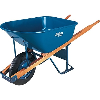 Jackson® Blue Steel Platform Flat-Free Contractor Wheelbarrow, 25 1/2 in (W) x 27 in (H), 6 cu ft