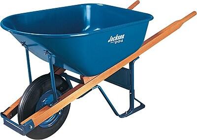 True Temper® Jackson® Contractor Wheelbarrow, Blue, 6 Cu.Ft., Pneumatic 2-Ply Wheel