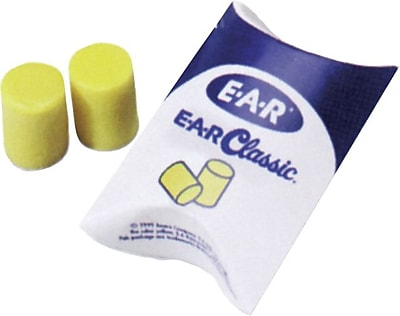 E-A-R® Classic® Yellow Foam Uncorded Earplug, 29 dB, 500 Pairs/Box