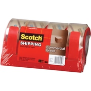 "Scotch Commercial Grade Shipping Packing Tape, 1.88"" x 54.6 yds, Clear, 4/Pack"