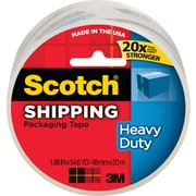 "Scotch Heavy Duty Shipping Packing Tape, 1.88"" x 54.6 yds, Clear, 1/Pack"
