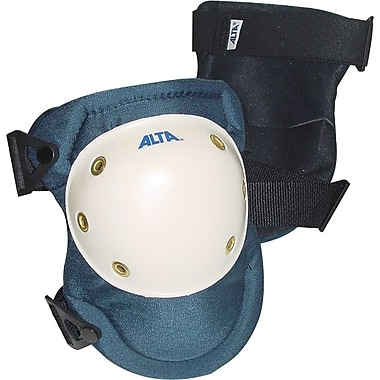 AltaPRO™ AltaLok™ Navy Nylon Cover Plastic Cap Dual Velcro Strap With Buckle Knee Pad
