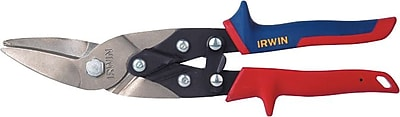 Irwin® Green/Blue Handle Right And Straight Cut Aviation Snip, 10 in (L), 1 5/16 in Cutting (L)