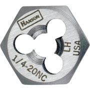 HANSON® High Carbon Steel Hexagon Re-Threading Die, 1-8 NC, 3 Flutes
