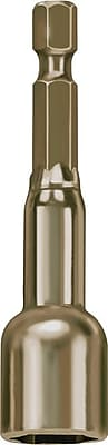 Irwin® Gold Tone Magnetic Nut Setter, 2 9/16 in (OAL) 1/4 in Hex Drive