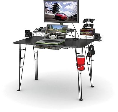 Atlantic 33935701 Gaming Desk Black Carbon Staples