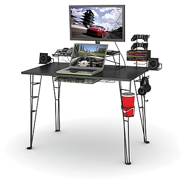 Atlantic 33935701 Gaming Desk, Black Carbon