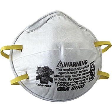 3M™ N95 Grade Small Stapled Fixed Strap Cup Style Particulate Respirator
