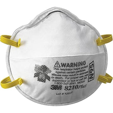 3M™ N95 Grade Standard Welded Fixed Strap Cup Style Particulate Respirator, 8 in (L), 5 in (W)