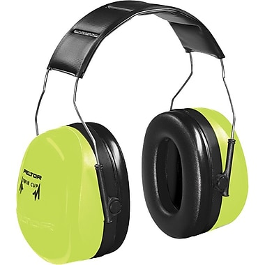 Peltor® Optime 105 Over The Head Earmuff, Hi-Viz Green, 30 dB