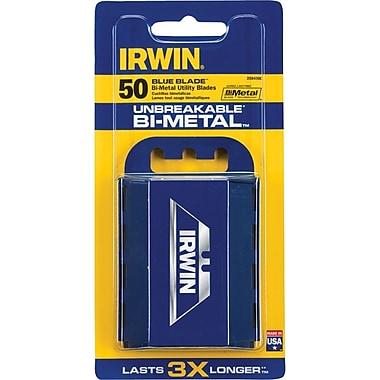 Irwin® Bi-Metal Utility Knife Blade With Dispenser, 50 Pack