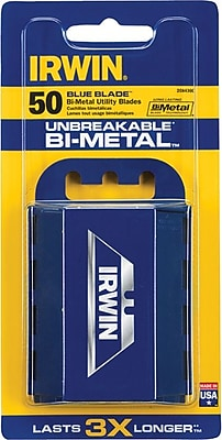 Irwin® Bi-Metal Utility Knife Blade With Dispenser, 50 Pack
