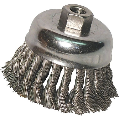 Anchor Brand® CS Wire Knot Cup Brush, 4 in (Dia), 0.014 in (Dia) Bristle, 4 in (L) Trim