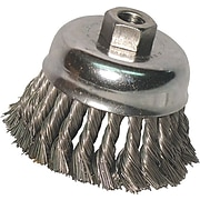 Anchor Brand® CS Wire Knot Cup Brush, 6 in (Dia), 0.014 in (Dia) Bristle, 6 in (L) Trim