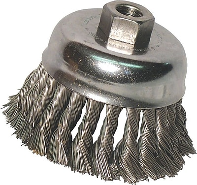 Anchor Brand® CS Wire Knot Cup Brush, 3 in (Dia), 0.014 in (Dia) Bristle, 2 3/4 in (L) Trim