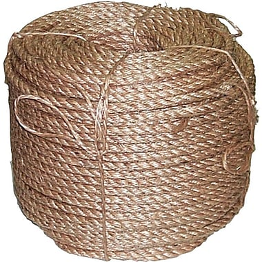 Anchor Brand® 3 Strand Manila Rope, 600 ft (L), 1/4 in (Dia)