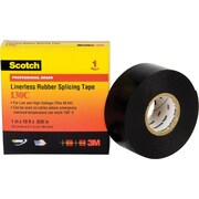 Scotch® 30 ft (L) 30 mil (T) Black Ethylene Propylene Rubber 130C Electrical Tapes