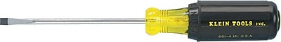 Klein Tools® Chrome Plated Steel Shank Screwdriver, 6 3/4 in (L), 3/16 in Slotted Cabinet