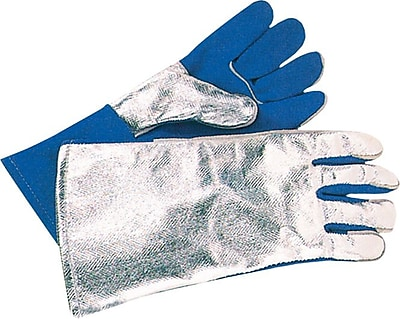 Anchor Brand® Split Cowhide Front Welding Gloves, Aluminum Back, Large, Blue Front