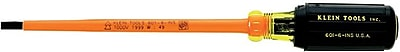 Klein Tools® Insulated Steel Shank Screwdriver, 9 3/4 in (L), 3/16 in Slotted Cabinet