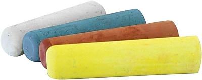 Dixon® Ticonderoga Solid Railroad Crayon Chalk, 4 in (L), 1 in (Dia), White