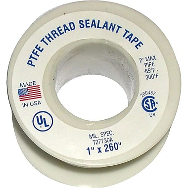 Plastomer® Standard Grade Standard Density Thread Sealant Tape, 260 in (L), 1 in (W)