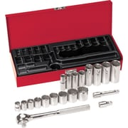 Klein Tools® Socket Wrench Set, 3/8 in Drive, 20 pcs
