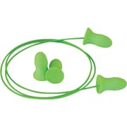 Moldex® PVC-Free® Meteors® Green Foam Corded Earplug, 33 dB, 100/Box