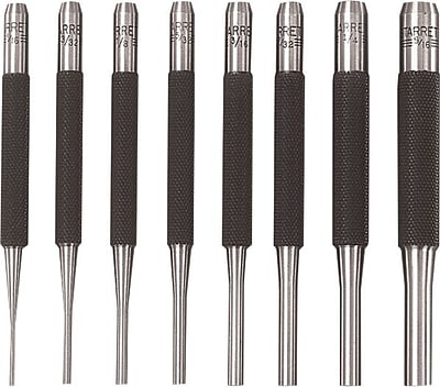 L.S. Starrett® Steel Drive Pin Punch, 4 in (L), 1/16 in Tip