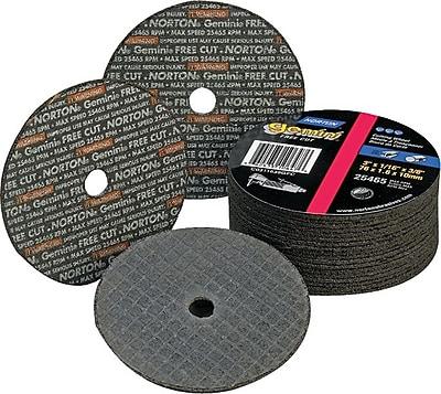 Gemini® Alumina Type 01 Reinforced Cut-Off Wheel, 3 in (OD), 1/16 in (T), 3/8 in Arbor